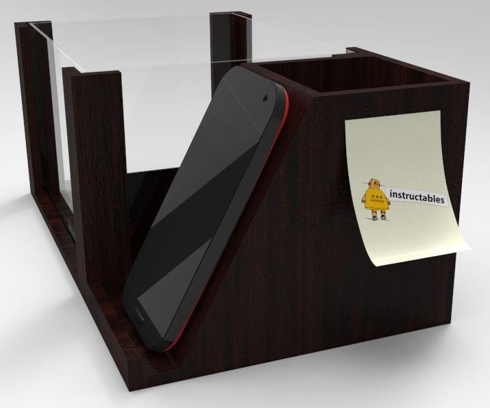 How to make a 'Aqua Pen box Cell Phoneholder'?