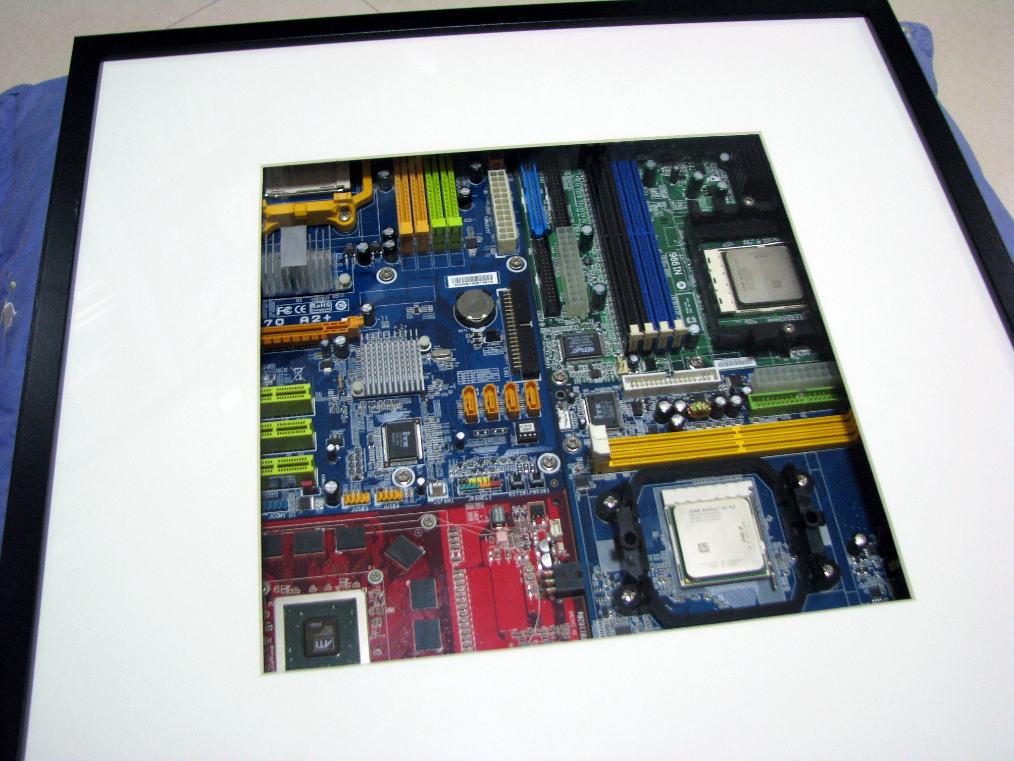 Geeky Art - Old Motherboards in Ikea RIBBA Frame