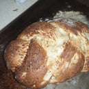 Awesome Garlic, Onion, Parmesan Braided Bread