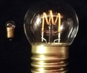 Mini Bulb (E10) Expanded to Goliath Size (E40)