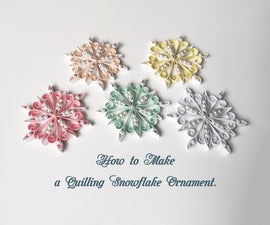 Easy Quilling Snowflake Christmas Ornament