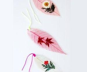 Super Easy Way to Make a Super Cool Leaf Bookmark