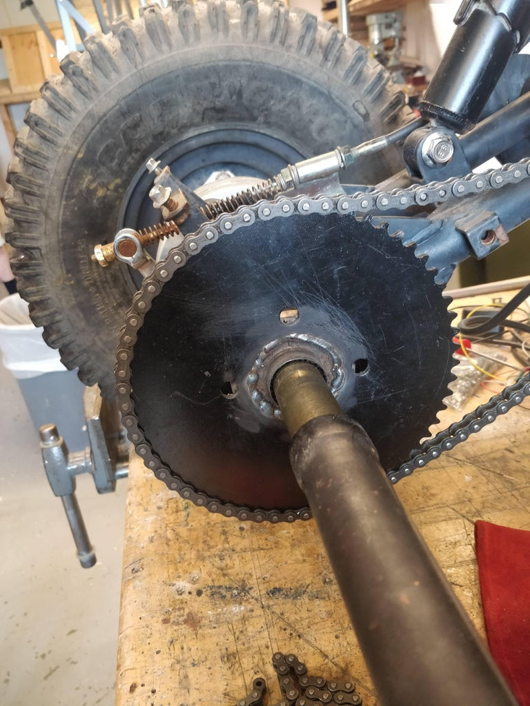 Put on the Back Sprocket and Make Sure Everything Will Be Aligned