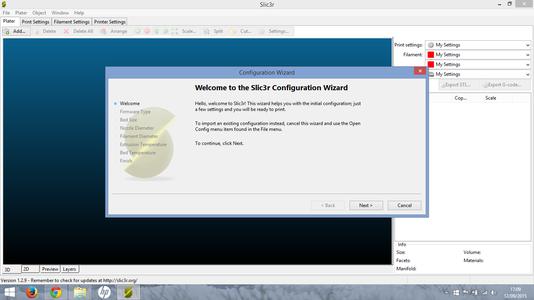 Setting Up Slic3r 1.9.2