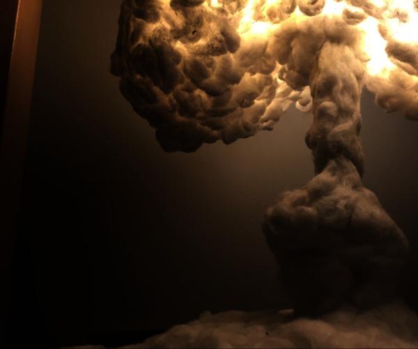 A Recycled Mushroom Cloud LAMP