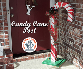 Candy Cane Post