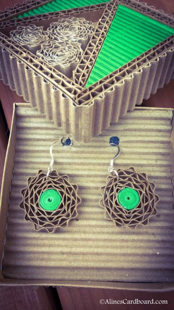 Cardboard Earrings
