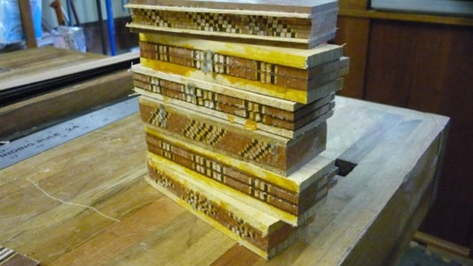 True Up the Glue Up, Round the Edges, Cut the Bookmark!