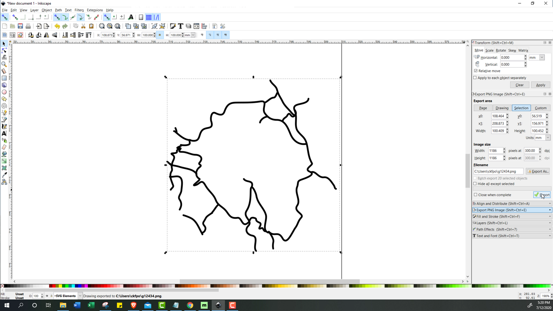 Processing the Data (Inkscape)