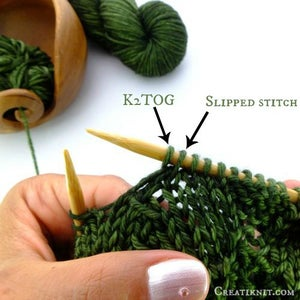 In the Photo Above, You Can See Your Slipped Stitch & K2TOG