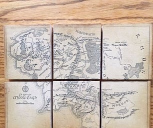 Map Puzzle Coasters