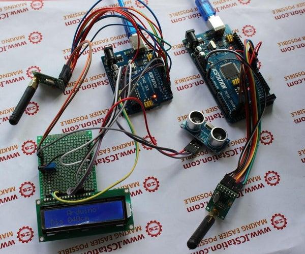 Ultrasonic Distance Measurement NRF905 Wireless Transmission System Based on Arduino