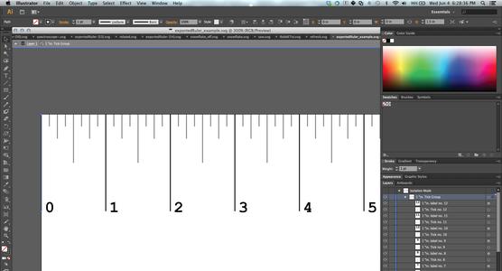 Editing Ruler in Software (Optional)