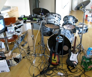 Set Up Rock Band on Playstation 3 to a Real Drum Kit