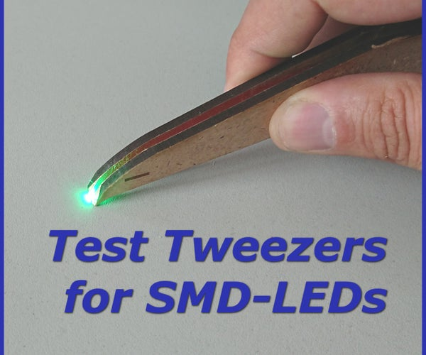 测试SMD-LEDs的镊子