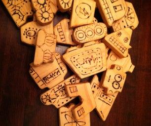 Wood Block Robots
