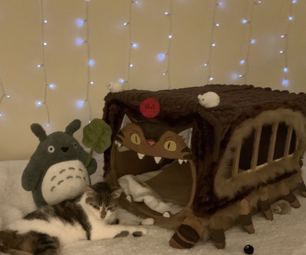 Turning a Cardboard Box Into a Totoro Cat Bus