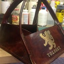 Antique Leather Growler Carrier