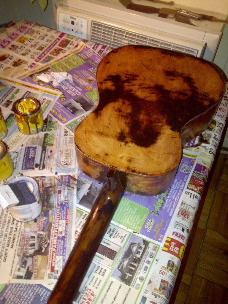 Installing Pickup and Staining