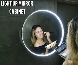 Light Up Mirror With Cabinet