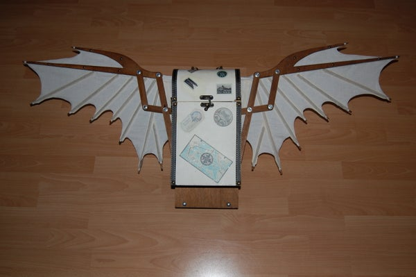 Steampunk Auto-folding Wings