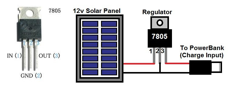 Soldering the 7805 Regulator