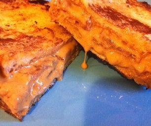Fried PeanutButter Bacon Sandwich!