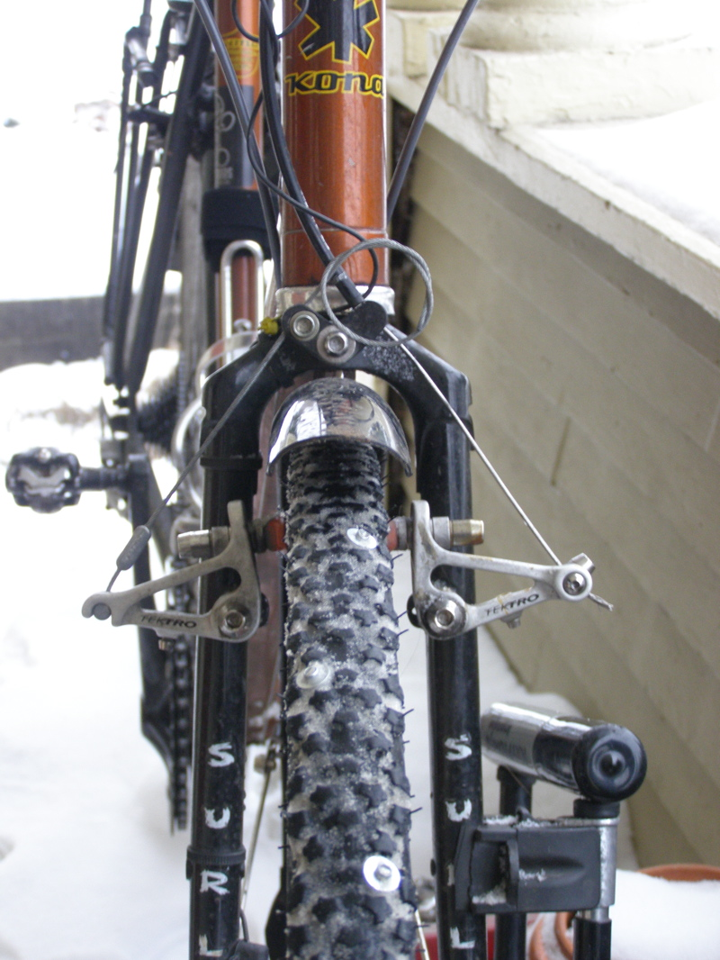 Pop Rivet Ice Tires for Your Road Bike