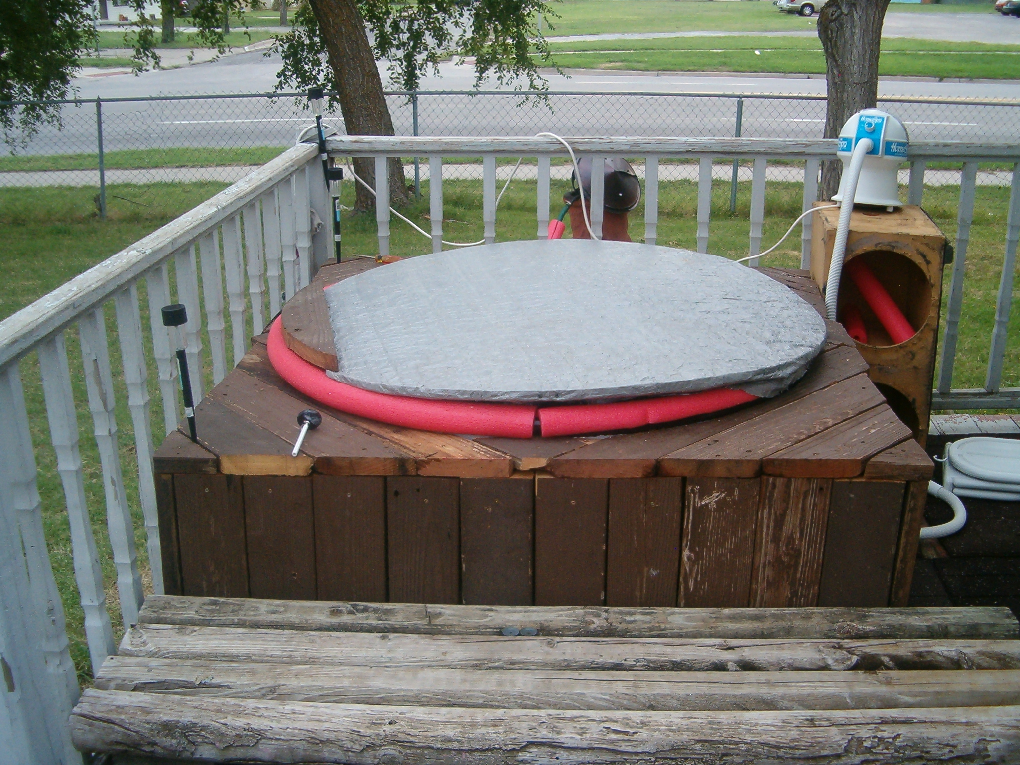 My Red-neck Wood-fired Hot Tub!