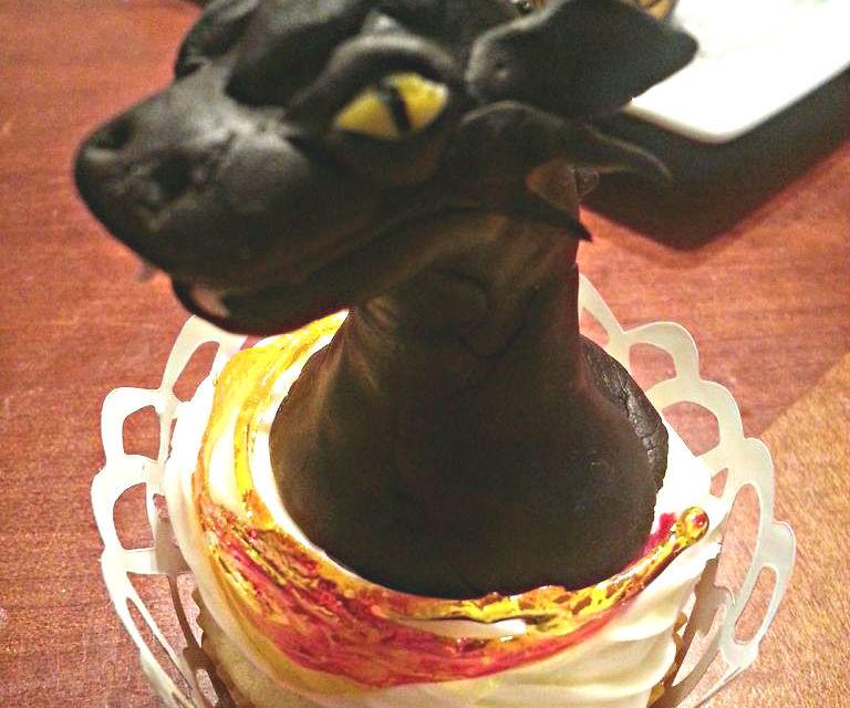 Black Dragon Cupcake Decorations