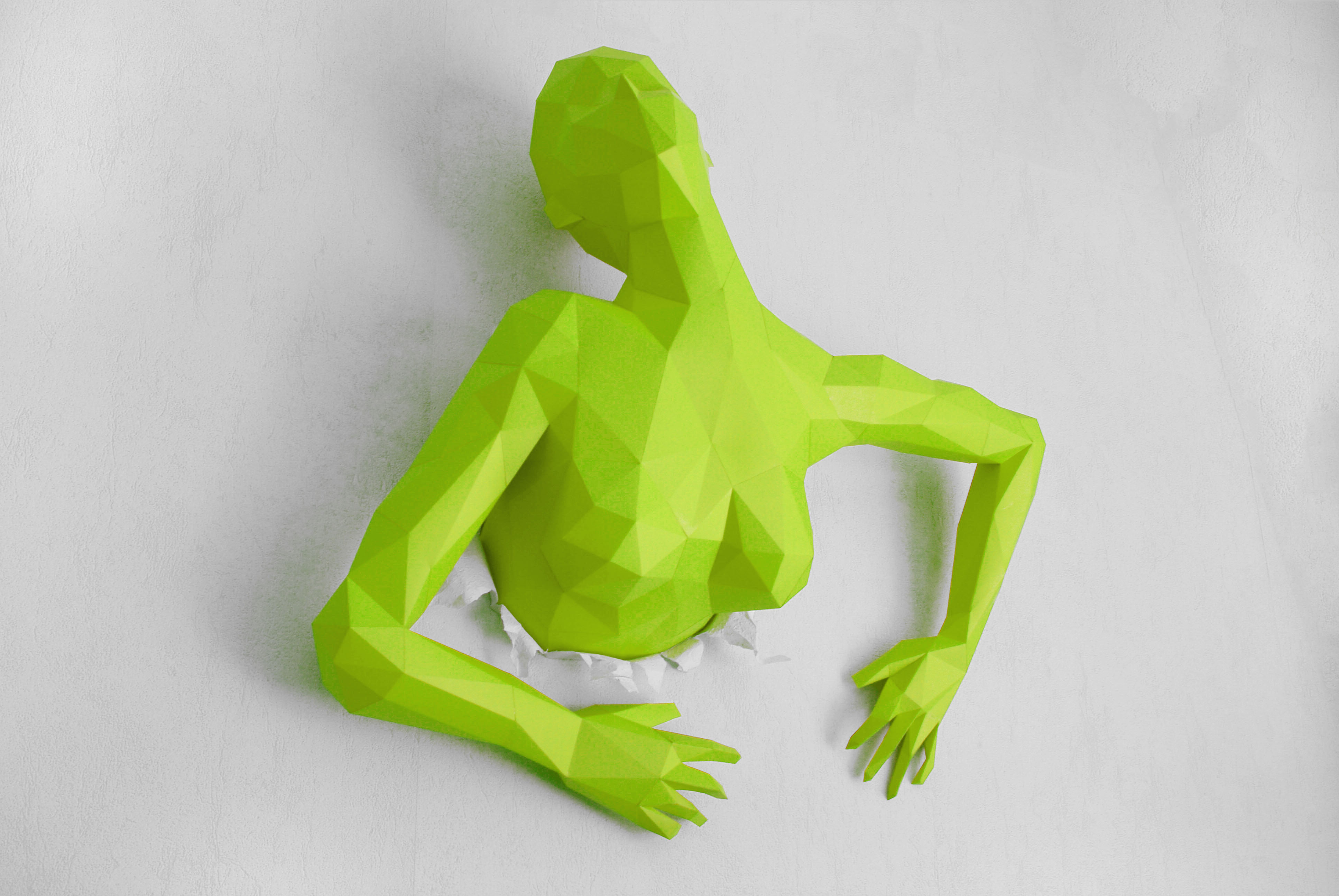 Out Of This Wall – Papercraft Sculpture