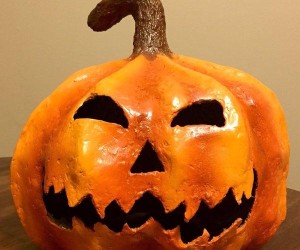 How to Make a Spooky Paper Mache Halloween Pumpkin