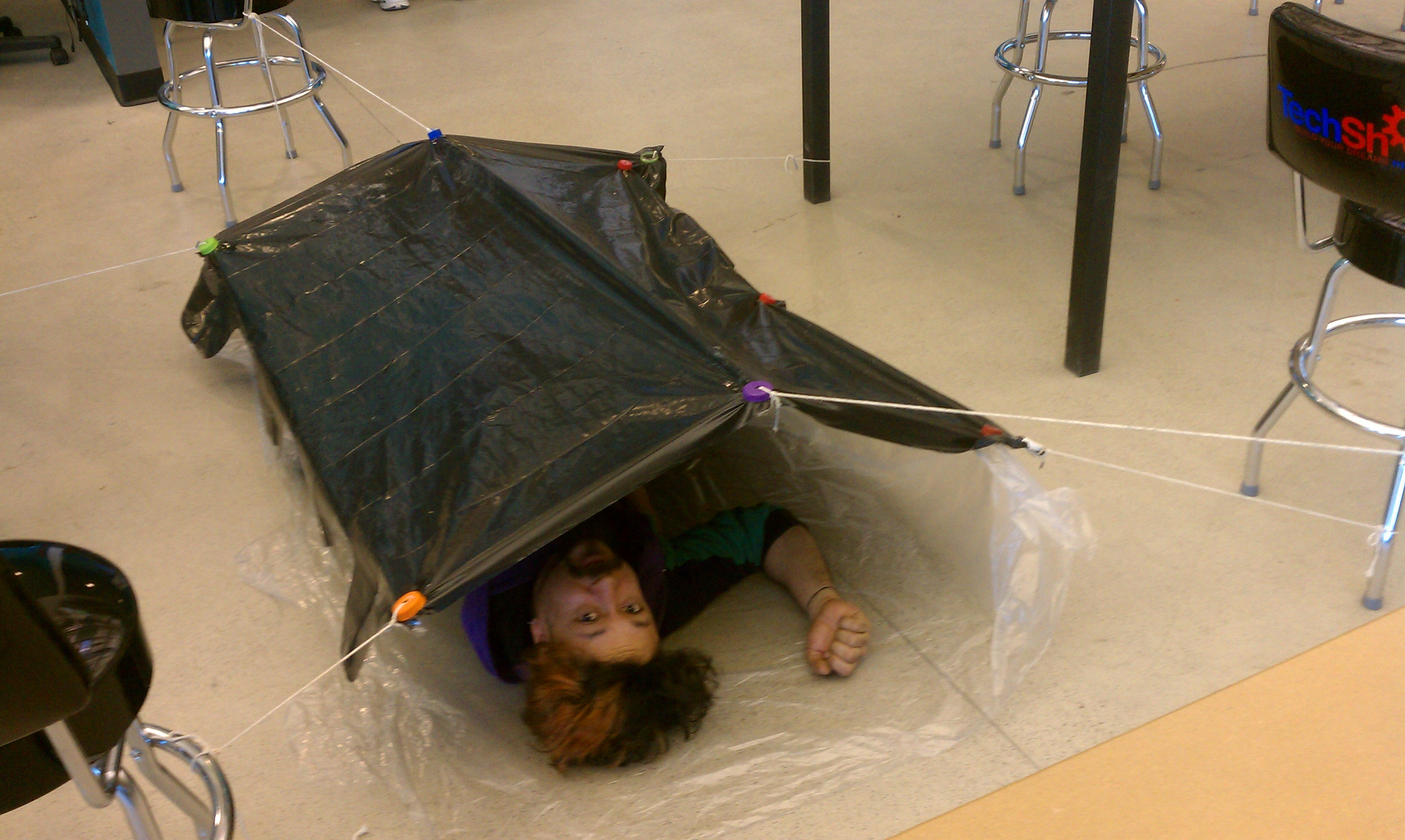 Ultra light tent for bike camping @TechShop