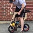 Leaf Blower Engine Powered Kids Bike From Trash