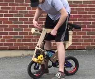 Leaf Blower Engine Powered Kids Bike From Trash