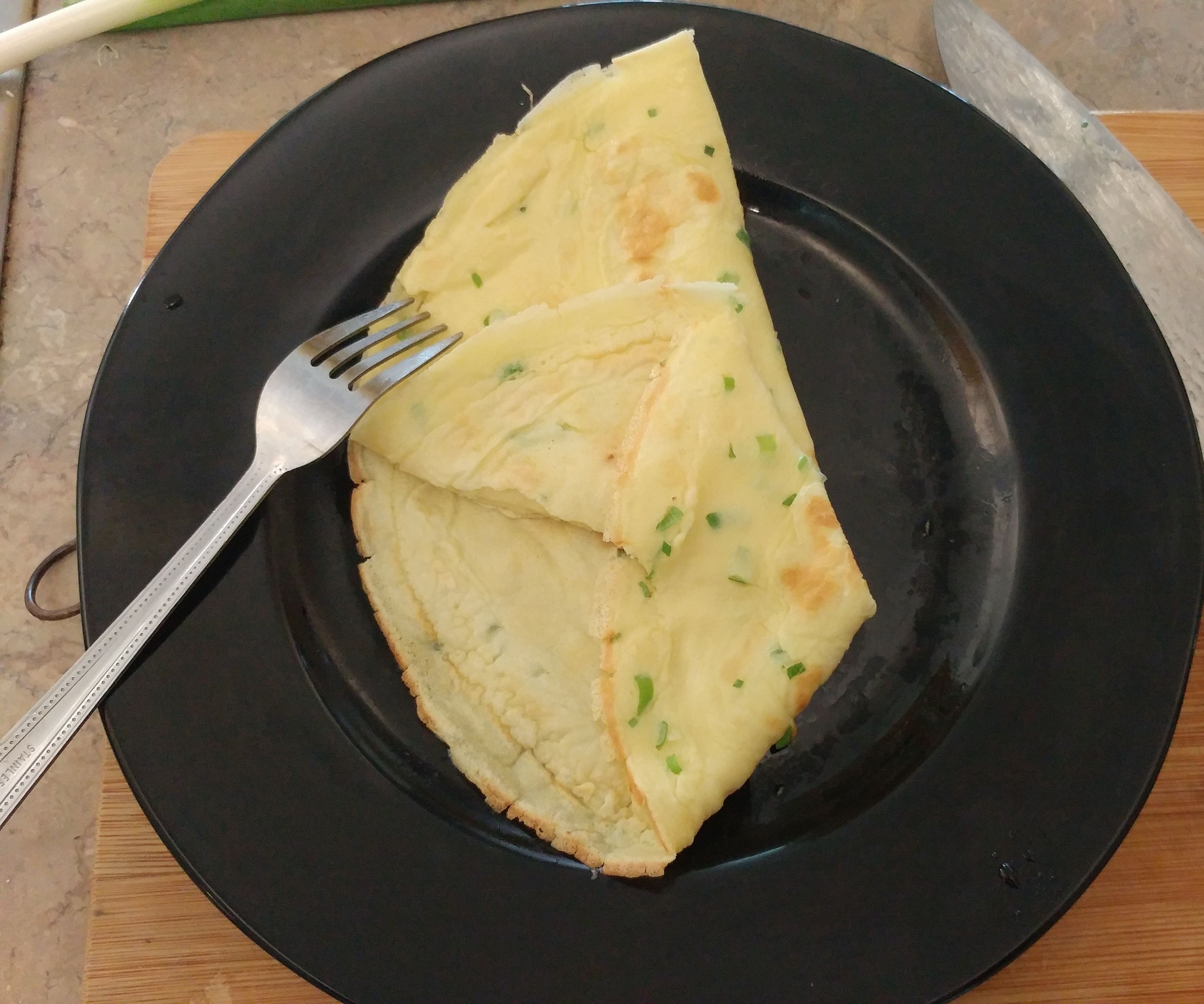 Green Onion and Egg Chinese Crepe