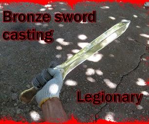 Bronze Sword Casting. Legionary. Aluminum Bronze Casting