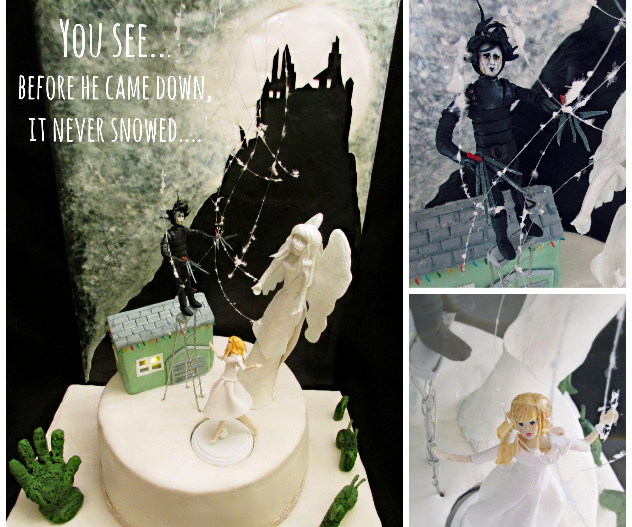 SHE DANCES! Edward Scissorhands ANIMATED Cake!