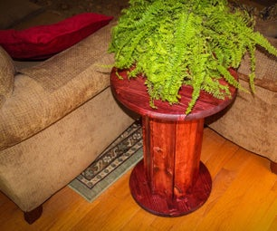 Side Table or Plant Stand Made From 2x4s