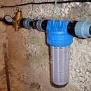 Reduction water supply pressure at home.