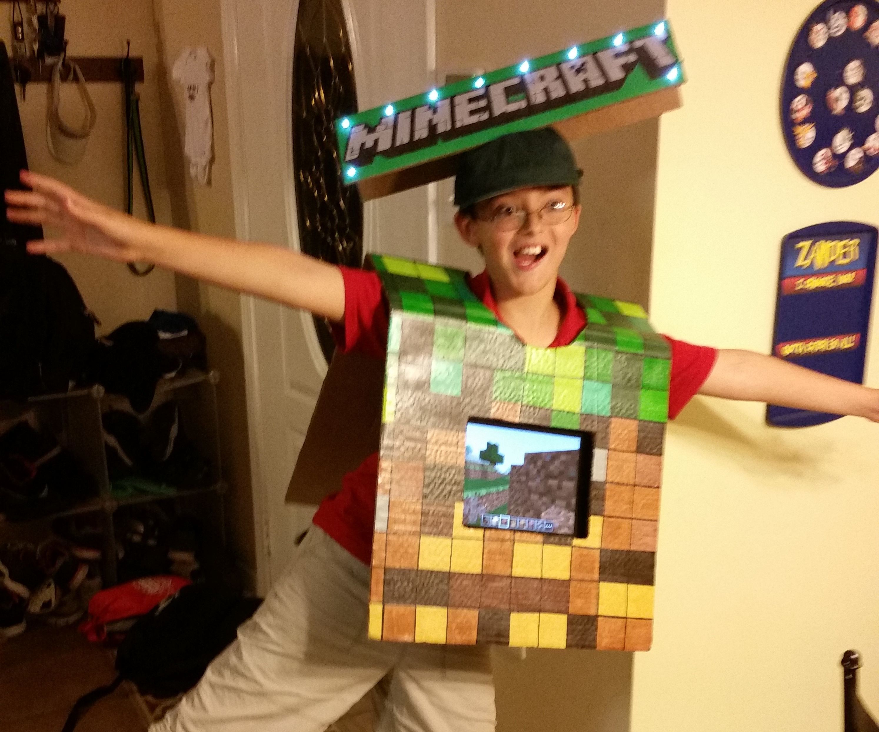 Mine Craft Touch Screen Game Costume