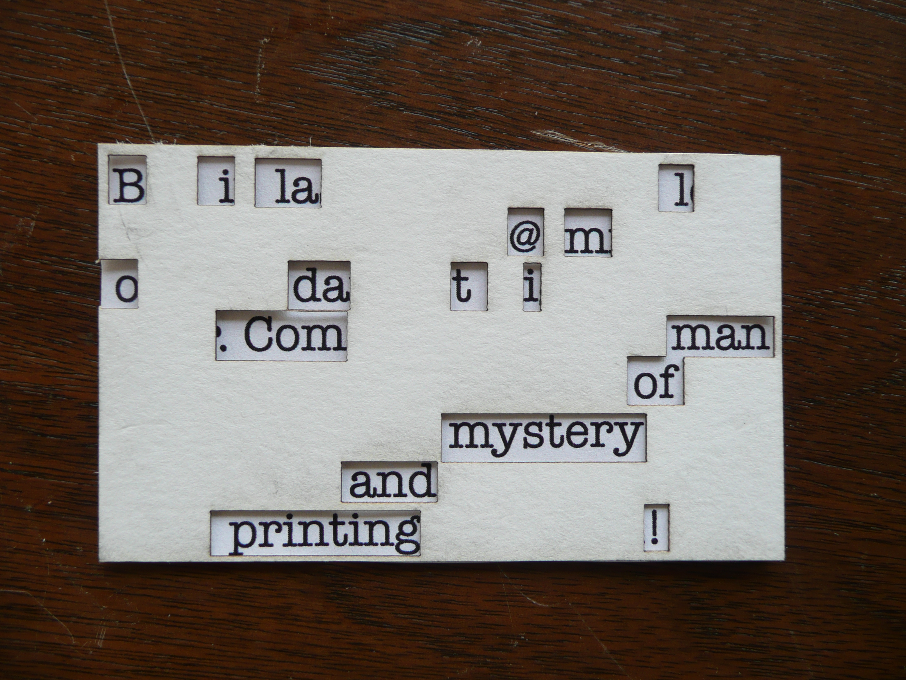 Decoder Business Card - QR Coded Secret Message
