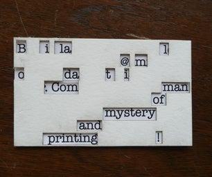Decoder Business Card - QR Coded Secret Message