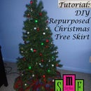 DIY Repurposed Christmas Tree Skirt