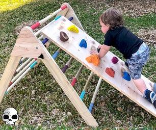 如何制作一个孩子木登山者(Pikler Triangle)