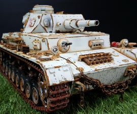Winter Camo Panzer IV / Weathering
