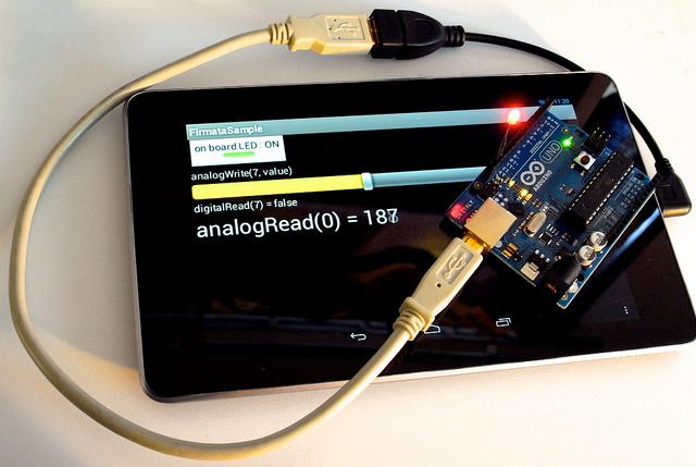 Nexus 7 and the Arduino.
