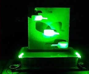 Homemade Electric Tabletop Water Fountain With LED Light