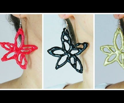 Easy Spring Flower Earrings