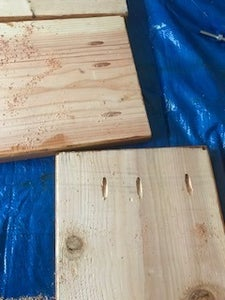Kreg Jig the Sides to the Columns